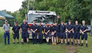 Firefighters standing by at the 2015 Family 4th of July